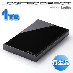 【アウトレット】 エレコム テレビ録画対応 外付けハードディスク 1TB ELD-ERT010UBK 4,580円【外付HDD】