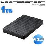 【アウトレット】 Seagate 1TB ポータブルハードディスク SGP-TV010BK 4,580円【外付HDD】