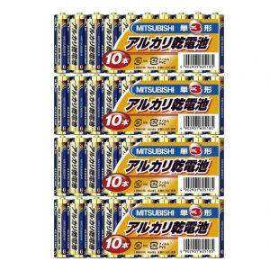 三菱 単3アルカリ乾電池40本セット 【送料無料】