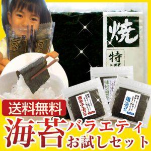 有明海産  海苔バラエティお試しセット 【送料無料】