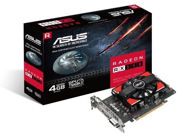 「RX550-4G」 RX 550+IP5X対応防塵ファン搭載カードが特価販売中